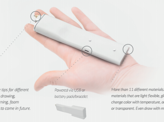 3DSimo Mini多功能3D打印笔面世 可打印11种材料