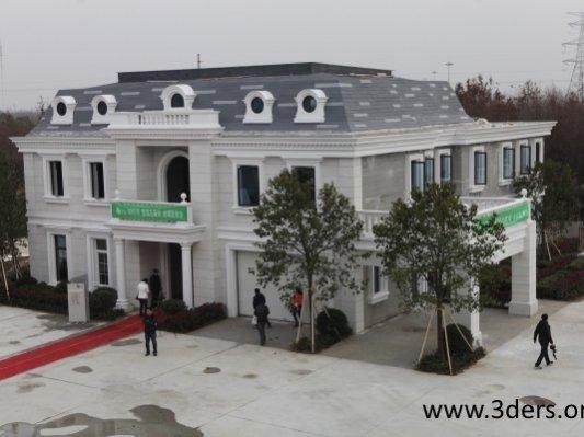 上海盈创3D打印出全球首个完整别墅和5层高的楼房