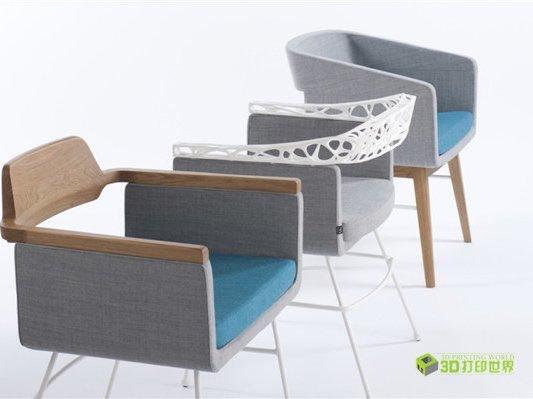 """试水家具3D打印 可""""高端订制""""的椅背"""