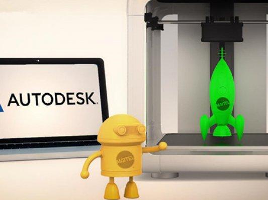 欧特克牵手Mattel 提升3D打印玩具定制体验
