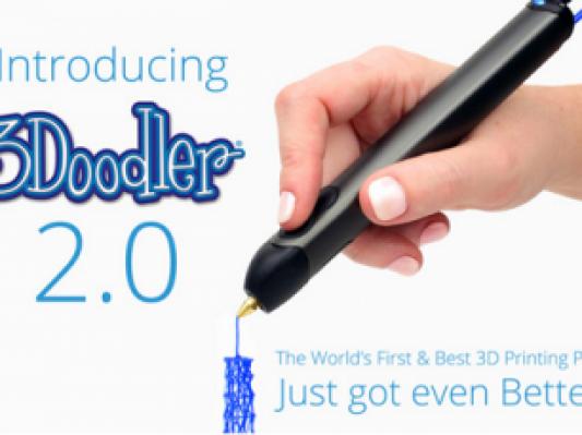 99美元一支!第二代3D打印笔3Doodler 2.0发起众筹