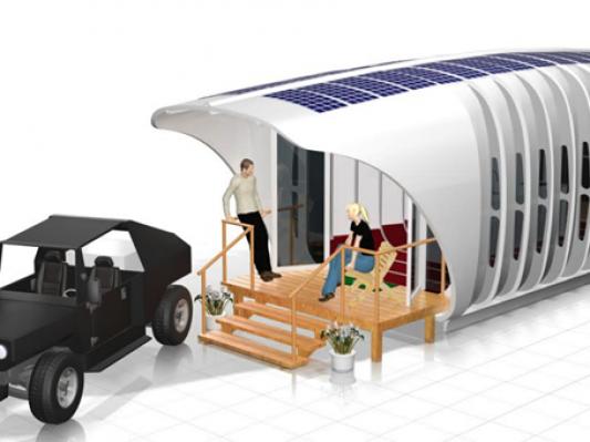 21世纪生活新方式 3D打印房屋与汽车有效共享能源