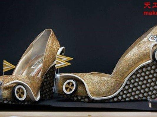 美国小姐花车游行 3D打印靓鞋出风头