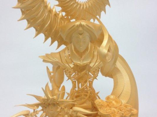 奇炫动漫风 日本艺术家欲3D打印百尊大型佛像