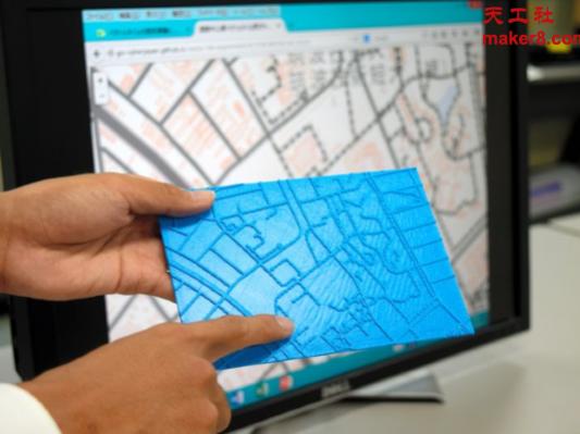 日本政府开发软件为盲人3D打印地图
