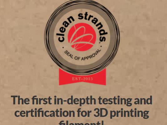 Clean Strands开展3D打印材料释放测试
