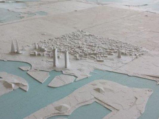 中东公司成功完成3D打印巴林全国模型