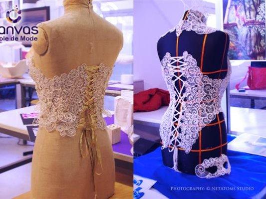 梦幻性感! 瑞士设计师用3D打印笔绘制蕾丝质感胸衣