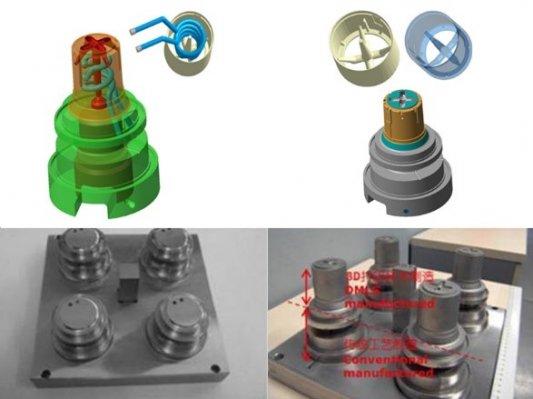 复杂模具中随形冷却道设计为什么离不开3D打印?