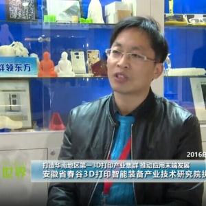 打造华东地区第一3D打印产业集群 推动应用末端发展
