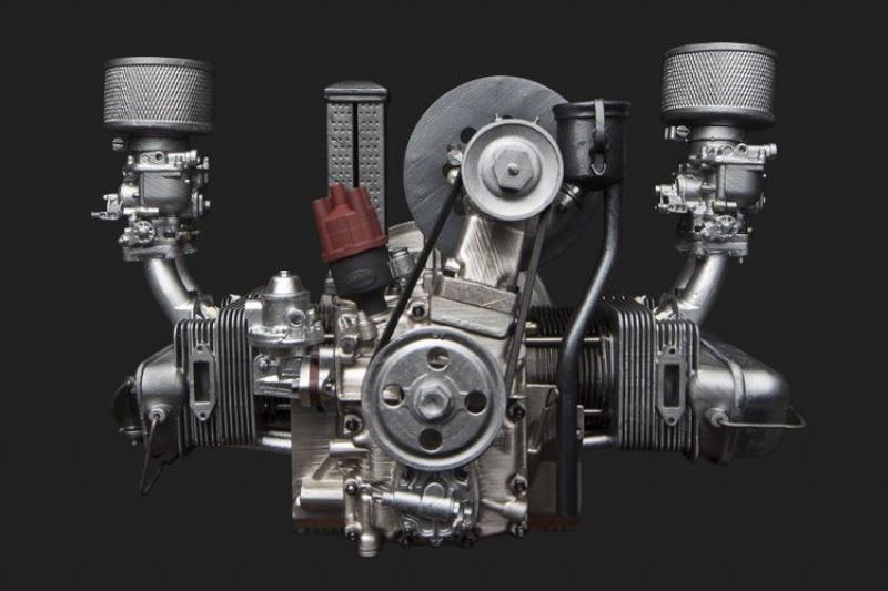 敬你是条汉子!国外大神用树脂完全3D打印出保时捷356发动机