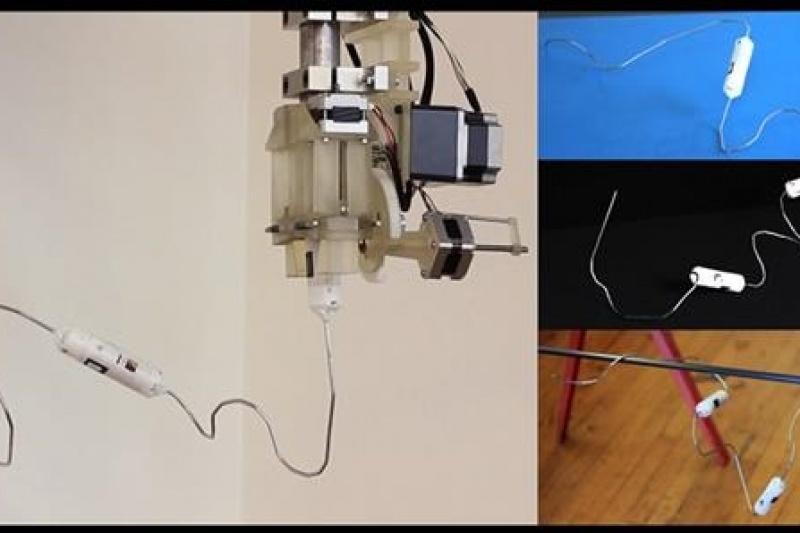百变机器人任意打印!1D打印机可以制造钻任何缝隙的机器人