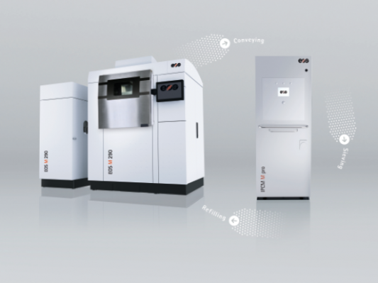 EOS展示全新3D打印金属粉末处理系统IPCM M pro模块