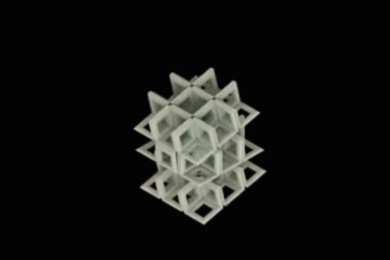 """源于日本折纸艺术:荷兰科学家发明""""折叠""""晶格结构,可能取代3D打印晶格"""