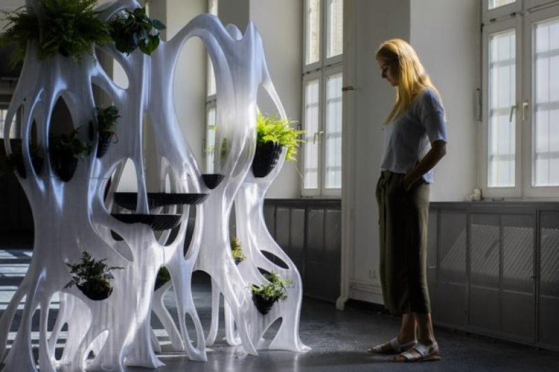 您见过自带灌溉功能的3D打印生态墙吗?