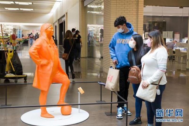 美国达拉斯展出3D打印的女性科学家雕像