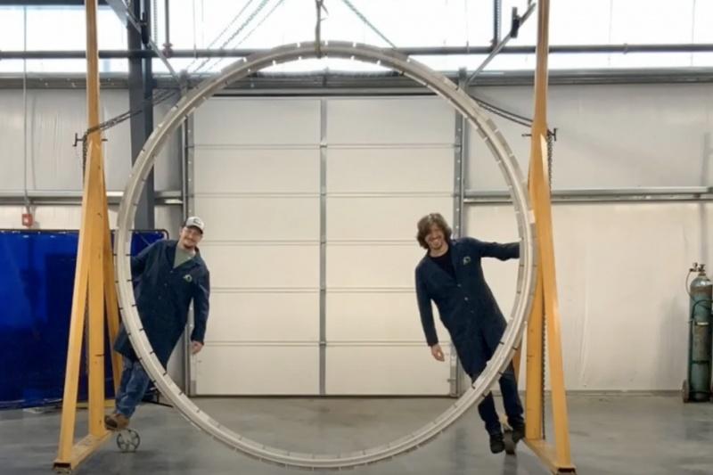 用铝材3D打印一个直径3米的圆