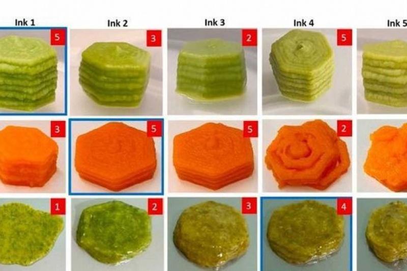 新研发的3D打印食品可保留和冷冻蔬菜的营养和风味