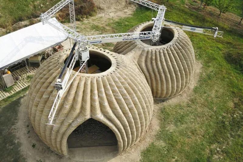 意大利3D打印住宅,用粘土建造可持续栖息地