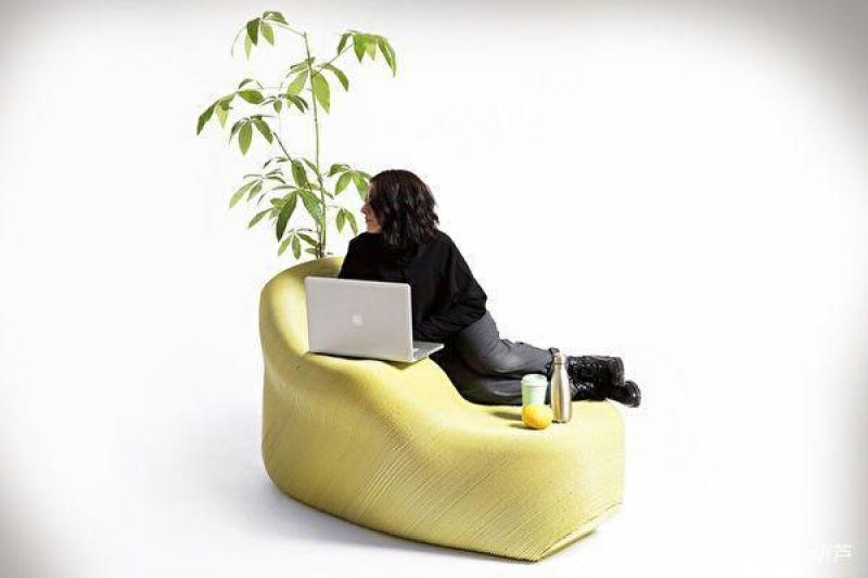 设计分享:塑料垃圾为原料,3D打印的家具可以很时尚