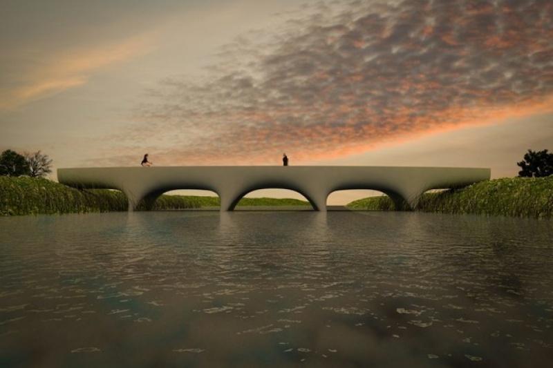 世界最长的3D打印人行天桥 横跨29.5米