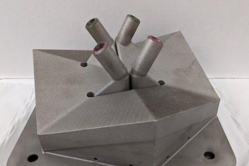 在900°C下测试的3D打印热交换器