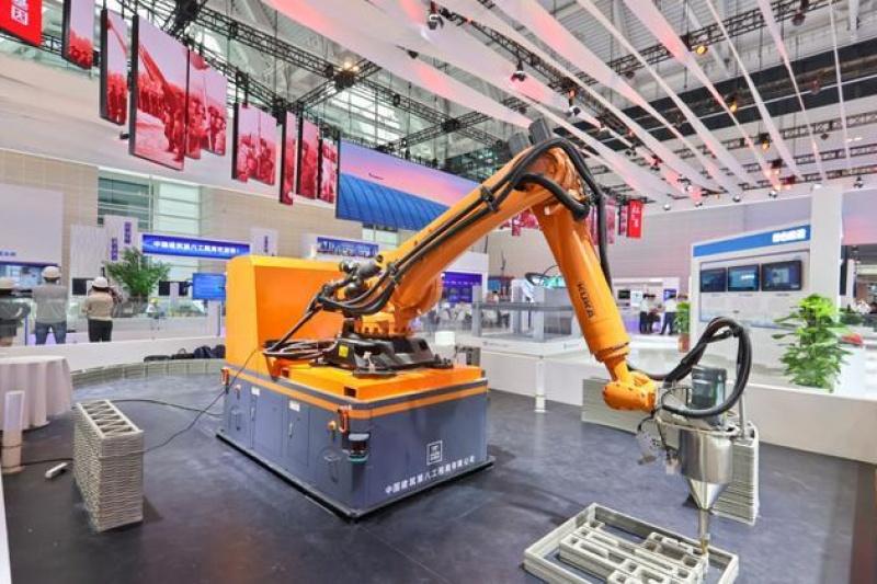国内首款行走式建筑3D打印机器人亮相
