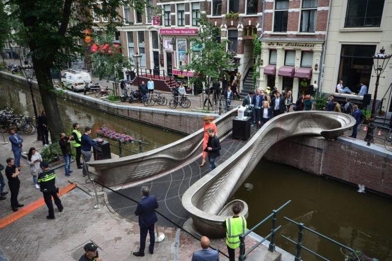 又一桥!荷兰阿姆斯特丹3D打印桥梁竣工