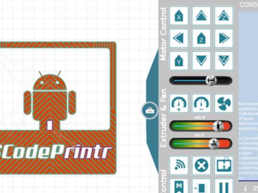 在Android上运行的3D打印管理软件GCodePrintr 2.0发布